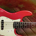 304.1834 Fender Red Jazz Bass 1965 In Color by M K Miller