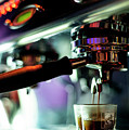 Making Espresso Coffee Close Up Detail With Modern Machine by Jacek Malipan