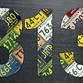 313 Area Code Detroit Michigan Recycled Vintage License Plate Art by Design Turnpike