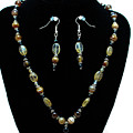 3509 Amber Striped Onyx Set by Teresa Mucha