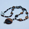 3516 Tiger Eye Necklace  by Teresa Mucha