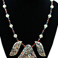 3521 Crinoid Fossil Jasper Necklace by Teresa Mucha