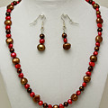 3536 Freshwater Pearl Necklace And Earring Set by Teresa Mucha
