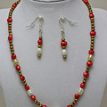 3539 Pearl Necklace And Earring Set by Teresa Mucha