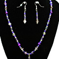 3546 Purple Veined Agate Set by Teresa Mucha