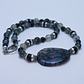 3552 Cracked Agate Necklace by Teresa Mucha