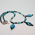 3564 Shell And Semi Precious Stone Necklace by Teresa Mucha