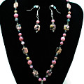 3571 Rhodonite Set by Teresa Mucha