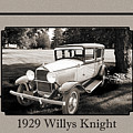 1929 Willys Knight Vintage Classic Car Automobile Photographs Fi by M K Miller