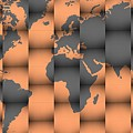 3d World Map Composition by Alberto RuiZ