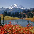 3m4824 Tipsoo Lake And Mt. Rainier H by Ed Cooper Photography