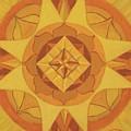 3rd Mandala - Solar Plexus Chakra by Jennifer Christenson