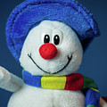 A Cute Little Soft Snowman With A Blue Hat And A Colorful Scarf by Stefan Rotter