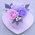 A Gift Of Preservrd Flower And Clay Flower Arrangement, Blue And by Eiko Tsuchiya