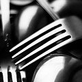Abstract Black And White Forks by Alain De Maximy