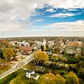 Aerial View Over White Rose City York Soth Carolina by Alex Grichenko