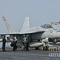 An Fa-18f Super Hornet On The Flight by Giovanni Colla