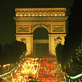 Arc De Triomphe In Paris 2 by Carl Purcell