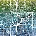Atlanta Georgia City Map by Michael Tompsett