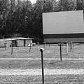 Auburn, Ny - Drive-in Theater Bw by Frank Romeo