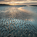Beautiful Beach Coastal Low Tide Landscape Image At Sunrise With by Matthew Gibson