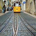 Bica Funicular, Lisbon, Portugal by Karol Kozlowski