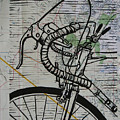 Bike 2 On Map by William Cauthern