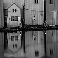 Boathouse Reflections  by Jim Corwin