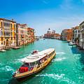 Canal Grande With Basilica Di Santa Maria Della Salute, Venice by JR Photography