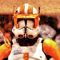 Clone Trooper Commander - Wax Style by Leonardo Digenio