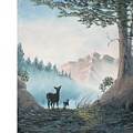 Deer In The Mist by Hal Newhouser
