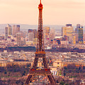 Eiffel Tower At Sunrise - Paris by Luciano Mortula