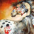 4 Feathers Indian War Pony by Marcia Baldwin