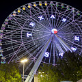 Ferris Wheel At The Texas State Fair In Dallas Tx by Anthony Totah