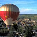 Hot Air Balloon Over Burgundy by Carl Purcell