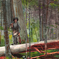 Hunter In The Adirondacks by Winslow Homer