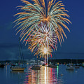 Independence Day Fireworks In Boothbay Harbor by Jesse MacDonald