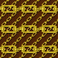 Iron Chains With Wood Seamless Texture by Miroslav Nemecek