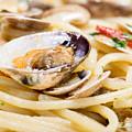 Italian Spaghetti And Clams Made In Naples by Massimiliano Marino