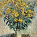 Jerusalem Artichoke Flowers by Claude Monet