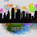 Kansas City Skyline Silhouette by Anna Maloverjan