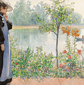 Karin By The Shore by Carl Larsson