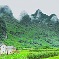 Karst Mountains Rural Scenery by Carl Ning