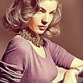Lauren Bacall, Vintage Actress by John Springfield