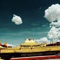 Lhasa Jokhang Temple Fragment Tibet Artmif.lv by Raimond Klavins
