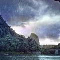 Lijiang River Boat Tour In The Rain-arttopan-china Guilin Scenery by Artto Pan