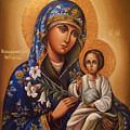 Madonna Enthroned Religious Art by Carol Jackson