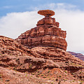 Mexican Hat Rock Monument Landscape On Sunny Day by Alex Grichenko