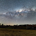 Milky Way Over A Farm Shed by Merrillie Redden