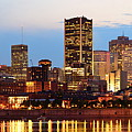 Montreal Over River At Dusk  by Songquan Deng
